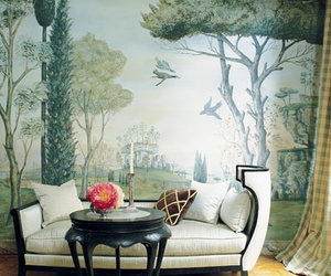 living room, nature, and room image
