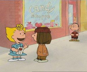 peanuts, linus van pelt, and marcy brown image