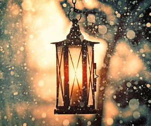 light, snow, and winter image