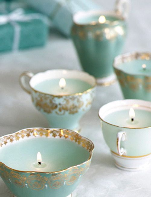 candle, blue, and cup image