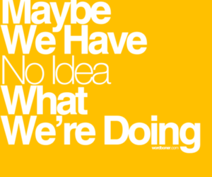 no idea, yellow, and quote image