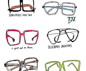 glasses and drawing image