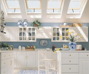 blue, smallrooms, and kitchen image