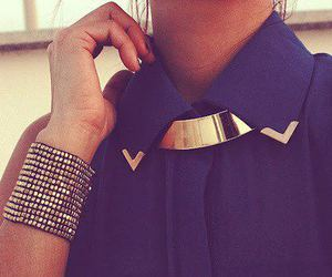 fashion, style, and gold image
