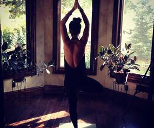 yoga and girl image
