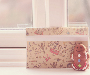 box, sweet, and gingerbread man image