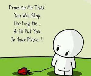heart, promise, and hurt image
