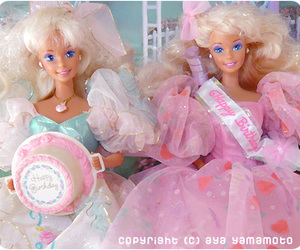 barbie, blonde, and pastel image