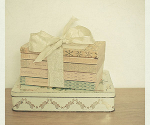 books, vintage, and ribbon image