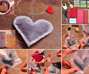 tea, diy, and heart image