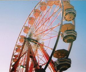 vintage, ferris wheel, and photography image