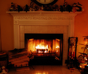 fireplace and logs image