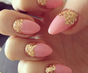 adorable, gold, and nails image