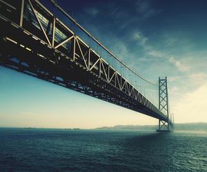 bridge, photography, and sea image