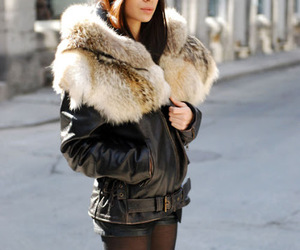 fashion, girl, and fur image