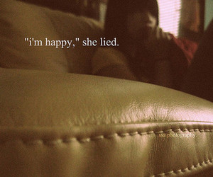 lies, happy, and girl image