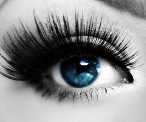 blue eyes, mascara, and my edit image