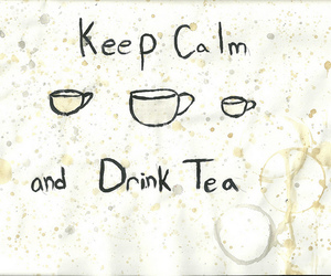 tea, keep calm, and cup image
