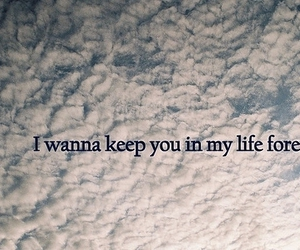 forever, quote, and clouds image