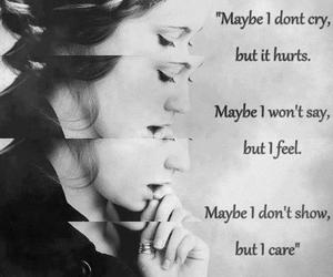 hurt, care, and cry image