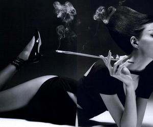 anja rubik, cigarette, and model image
