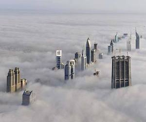 clouds, Dubai, and building image