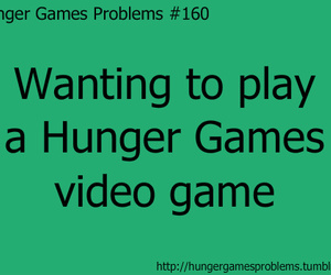 the hunger games, video game, and hunger games problems image