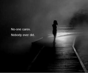 care, alone, and sad image