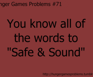 Taylor Swift, the hunger games, and safe & sound image