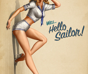 Pin Up, sailor, and vintage image