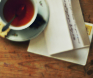 envelope, Letter, and teacup image
