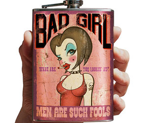 men, pink, and bad girl image