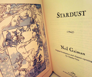 book, Neil Gaiman, and stardust image