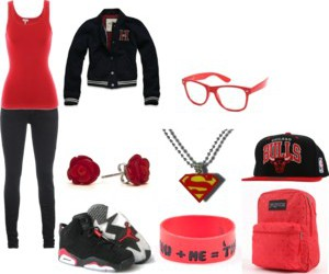 outfit, red, and swag image