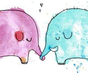 elephant, love, and cute image