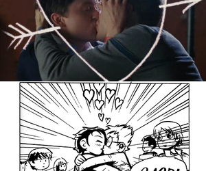 gay kiss, Kieran Culkin, and scott pilgrim image