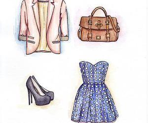 fashion, dress, and bag image