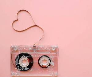 pink, music, and heart image