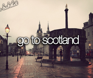 scotland and bucket list image