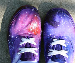 shoes, galaxy, and space image