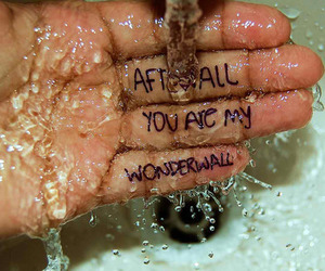 oasis, quote, and wonderwall image