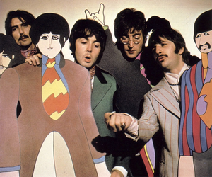 the beatles, george harrison, and john lennon image