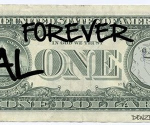 forever alone, alone, and money image