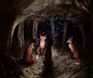 fox and art image