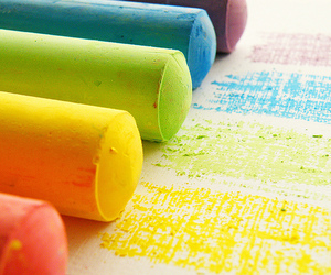 chalk, colors, and colorful image
