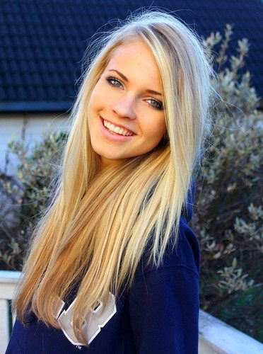 blond, eyes, and blue image