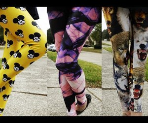 bunny, leggins, and jeffery campbell image