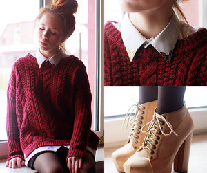 beautiful, knitted, and lookbook image