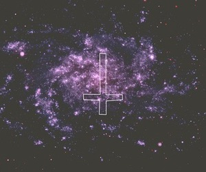 cross, space, and galaxy image