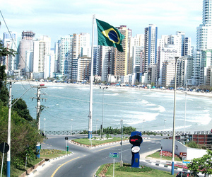 brazil, buildings, and sea image